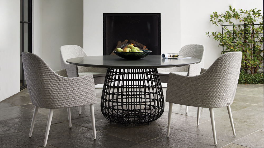 Katachi armchairs and Vino dining table