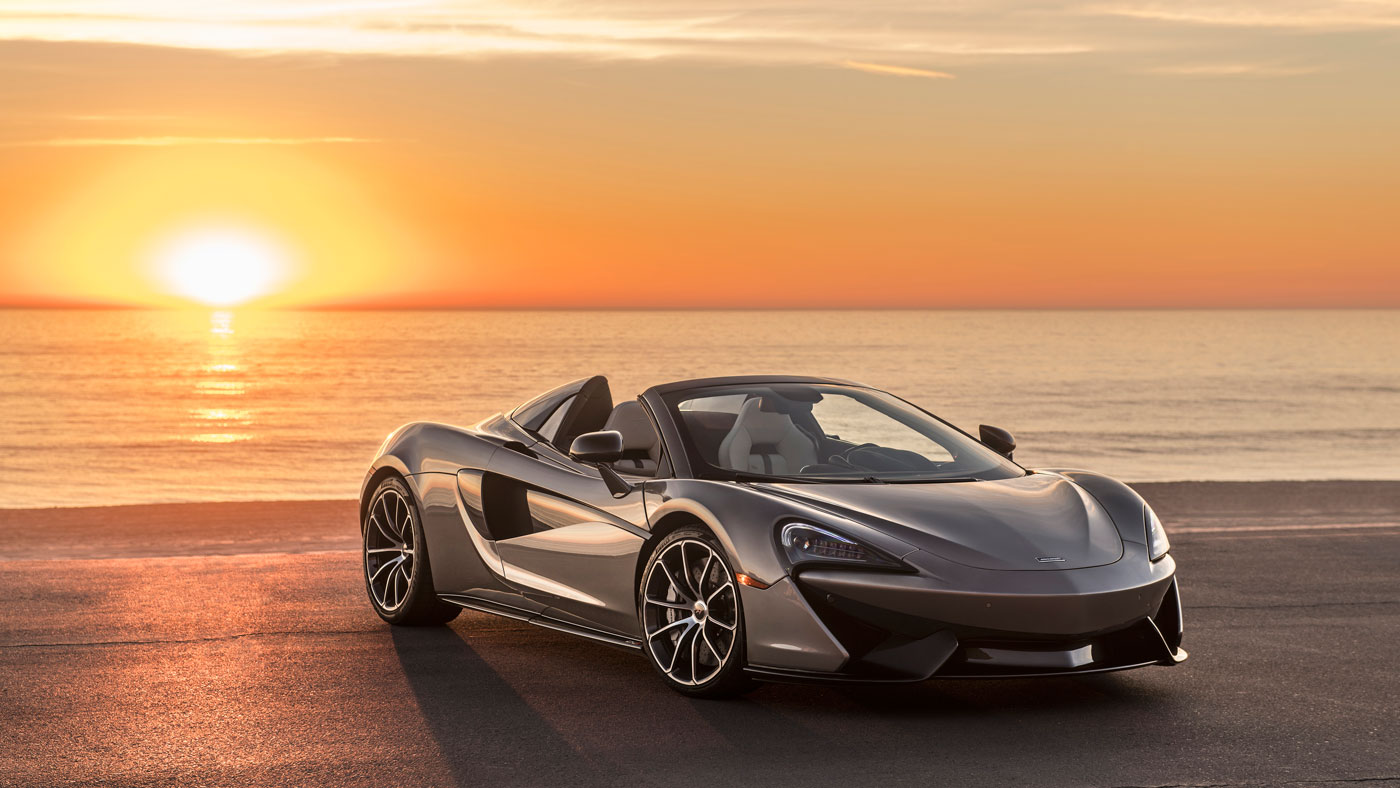 The McLaren 570S Spider auctioned to benefit Elton John's AIDS Foundation.