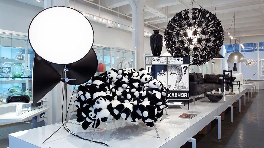 Moss panda chair