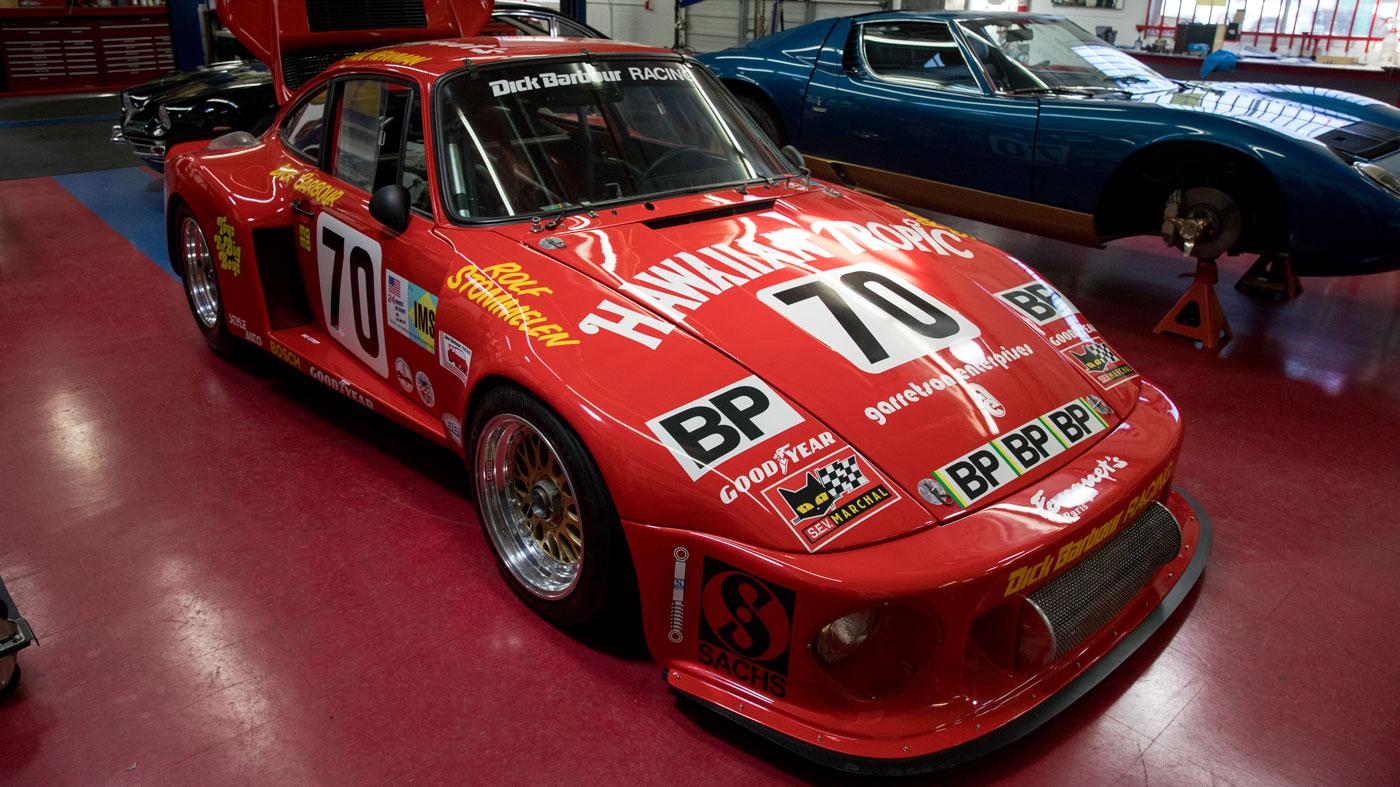 "The ""Hawaiian Tropic"" Porsche 935 raced by actor Paul Newman."