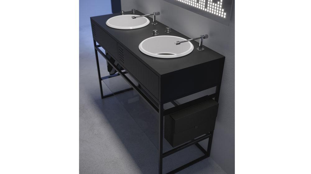 Turntable bath vanities