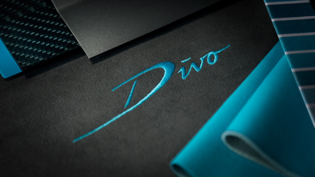 Embroidered logo for the Bugatti Divo.