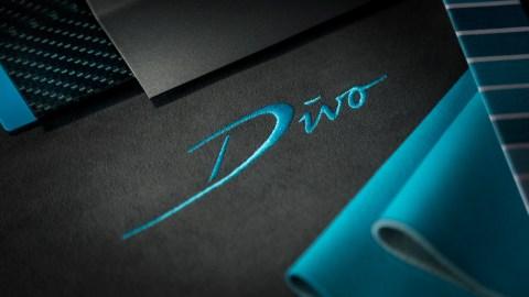 Embroidered logo for the Bugatti Divo.