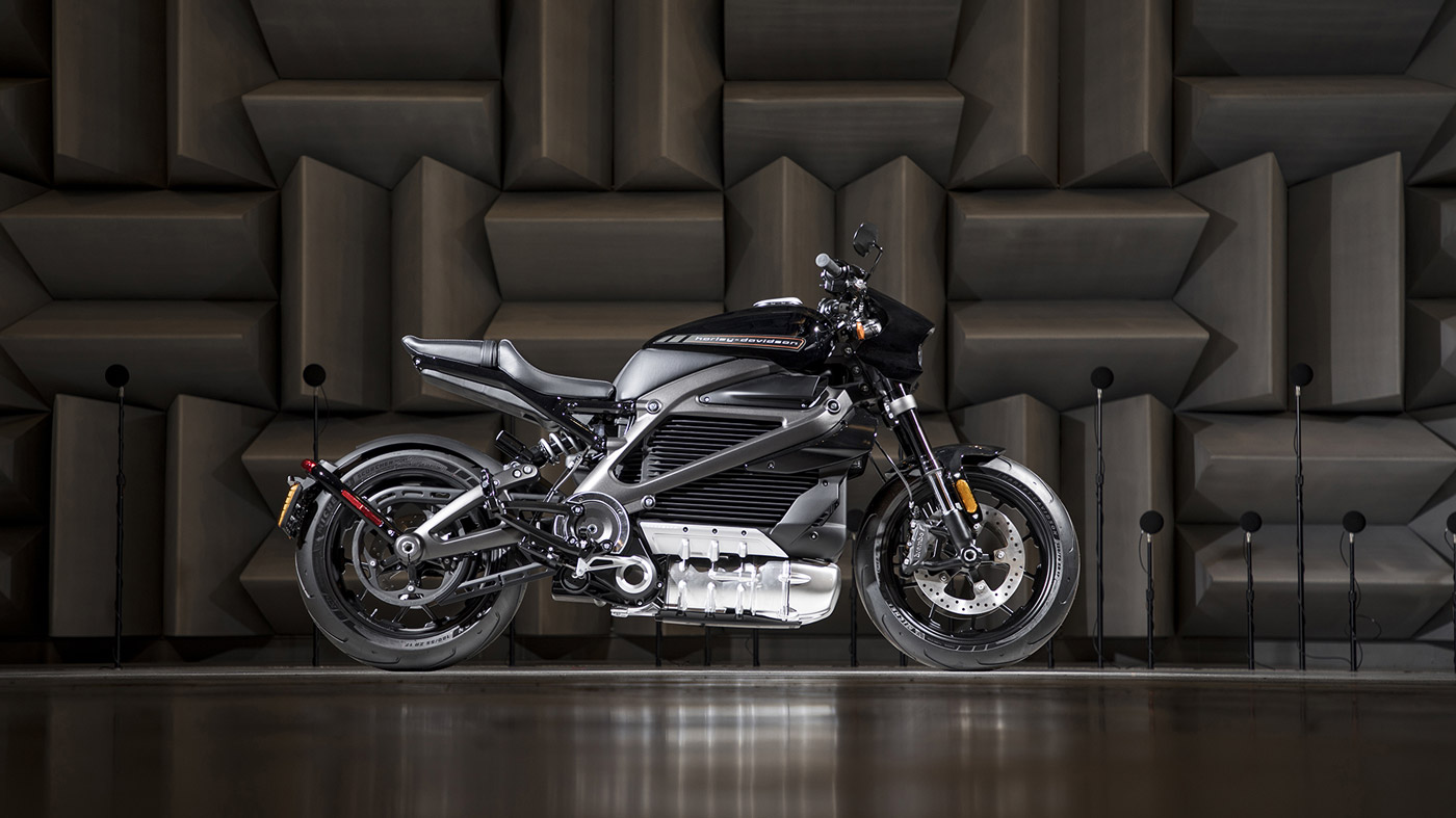 The Livewire electric motorcycle from Harley-Davidson.