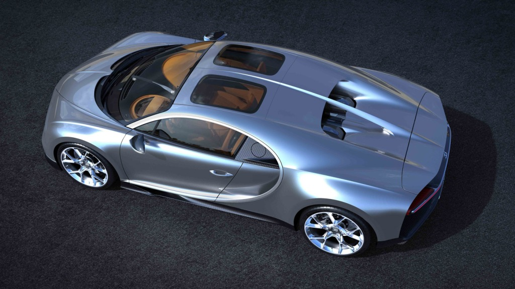 The Bugatti Chiron with new Sky View option.