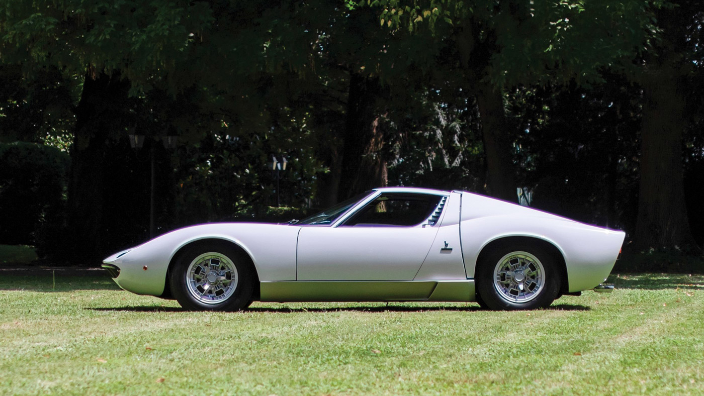 The 1971 Lamborghini Miura once owned by Rod Stewart.