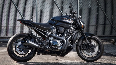 The 975cc Streetfighter motorcycle from Harley-Davidson.