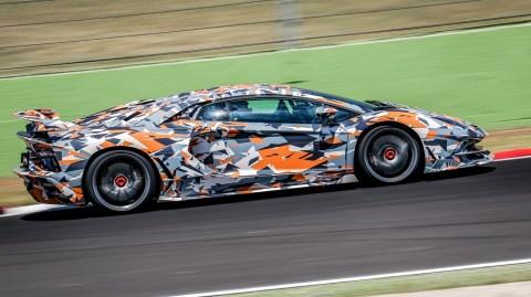 The Lamborghini Aventador SVJ at Nürburgring.