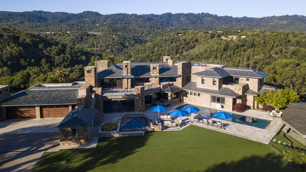 $100 Million Palo Alto estate aerial
