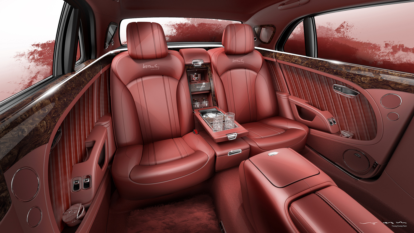 The interior of the 2019 Bentley Mulsanne W.O. Edition.