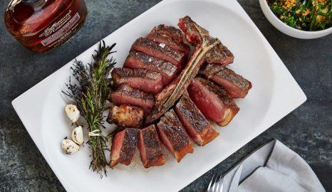 Porterhouse steak charcoal