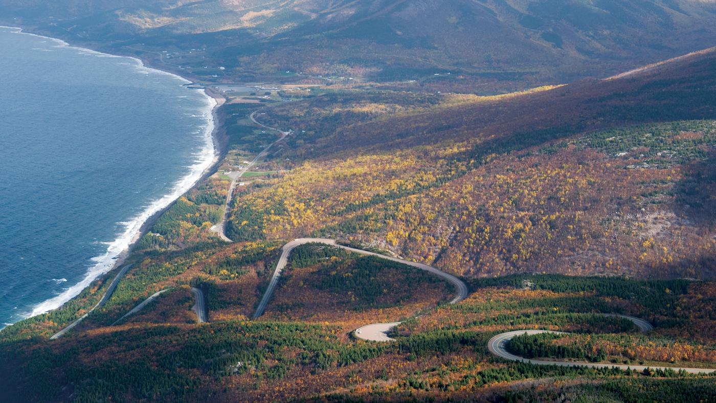 The Cabot Trail in Nova Scotia.