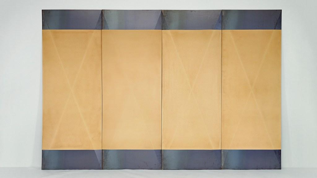 Dorothea Rockburne, Tropical Tan, 1967–68. © Dorothea Rockburne/Artists Rights Society (ARS), New York. Courtesy Dorothea Rockburne Studio.