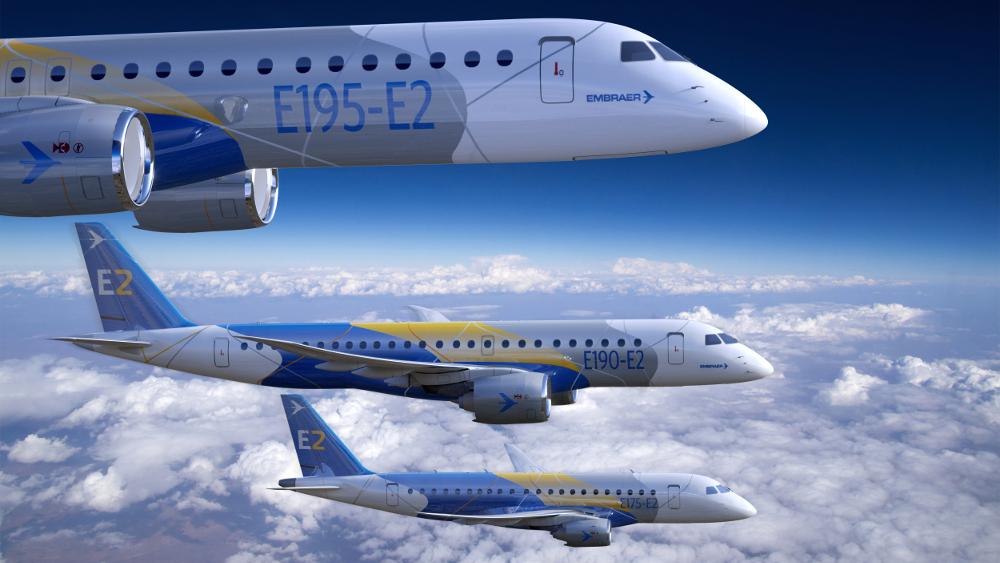Embraer E2 family flying