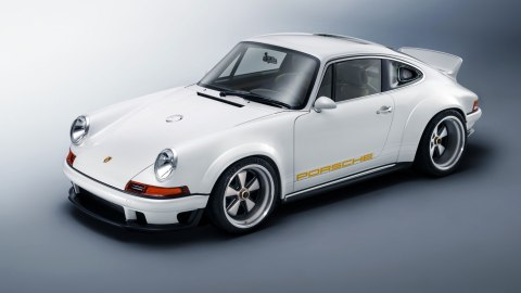 This example of Singer's Dynamics and Lightweighting Study (DLS) is a reimagined 1989 Porsche 911.