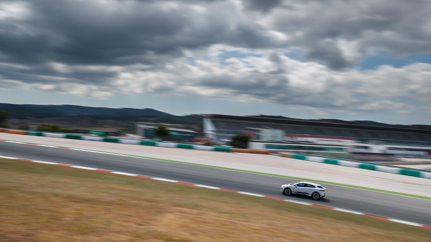 The 2019 Jaguar I-Pace at Autódromo Internacional do Algarve in Portugal.