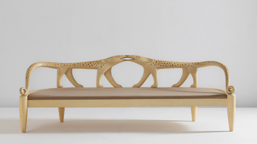 Judy Kensley McKie Leopard Couch