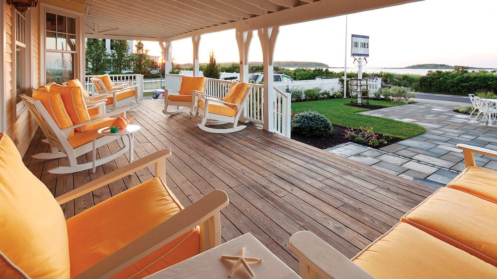 Tides Beach Club patio view