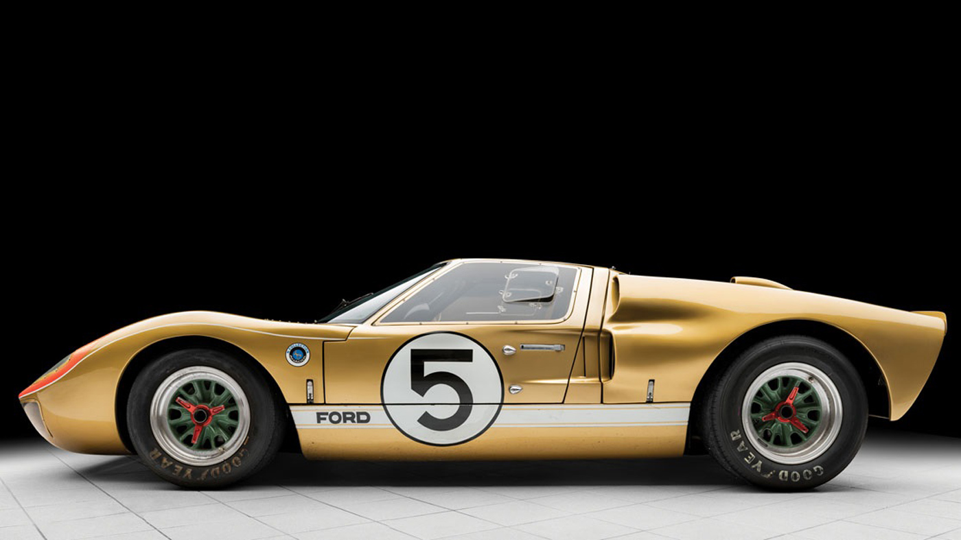 The 1966 Ford GT40 being offered at the 2018 RM Sotheby's Monterey Sale.