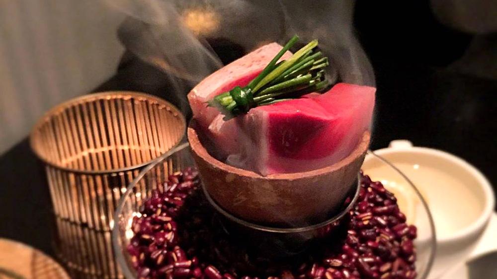 Oishii smoked hamachi