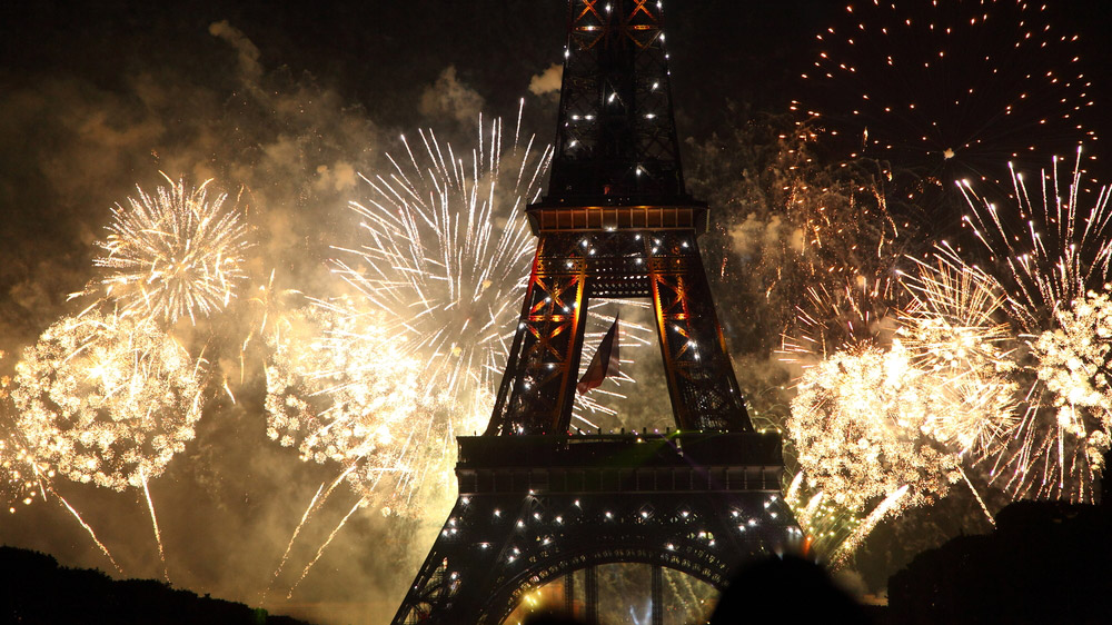 Paris fireworks show