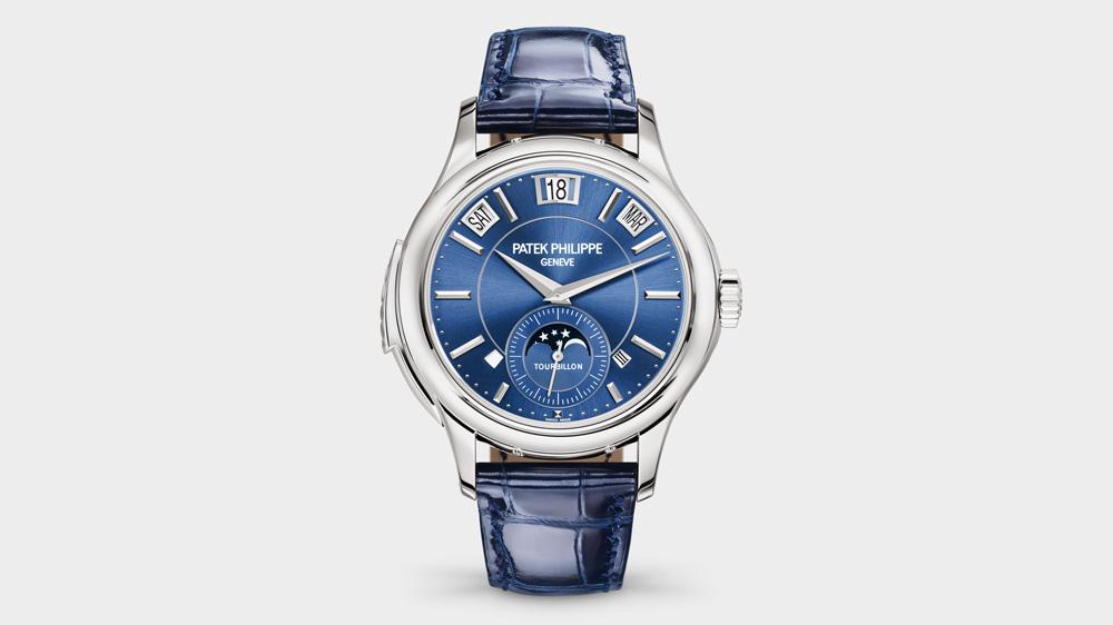 Patek Philippe blue dial watch