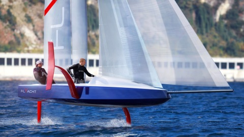 Philippe Briand Flyacht foils america's cup
