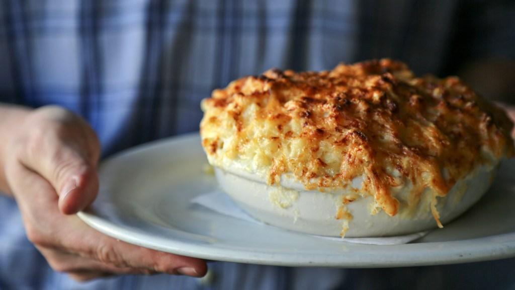 poole's macaroni au gratin