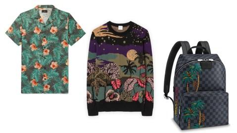 Tropical Print Luxury Menswear