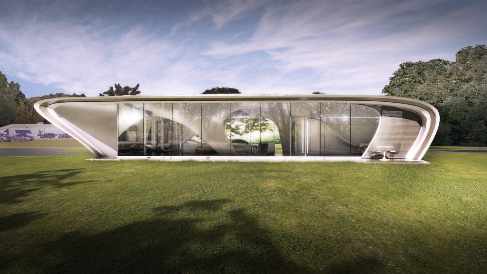 3-D printed house