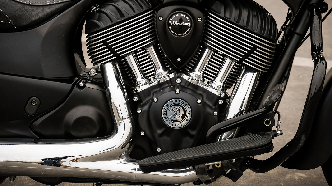 The 2018 Indian Springfield Dark Horse motorcycle.