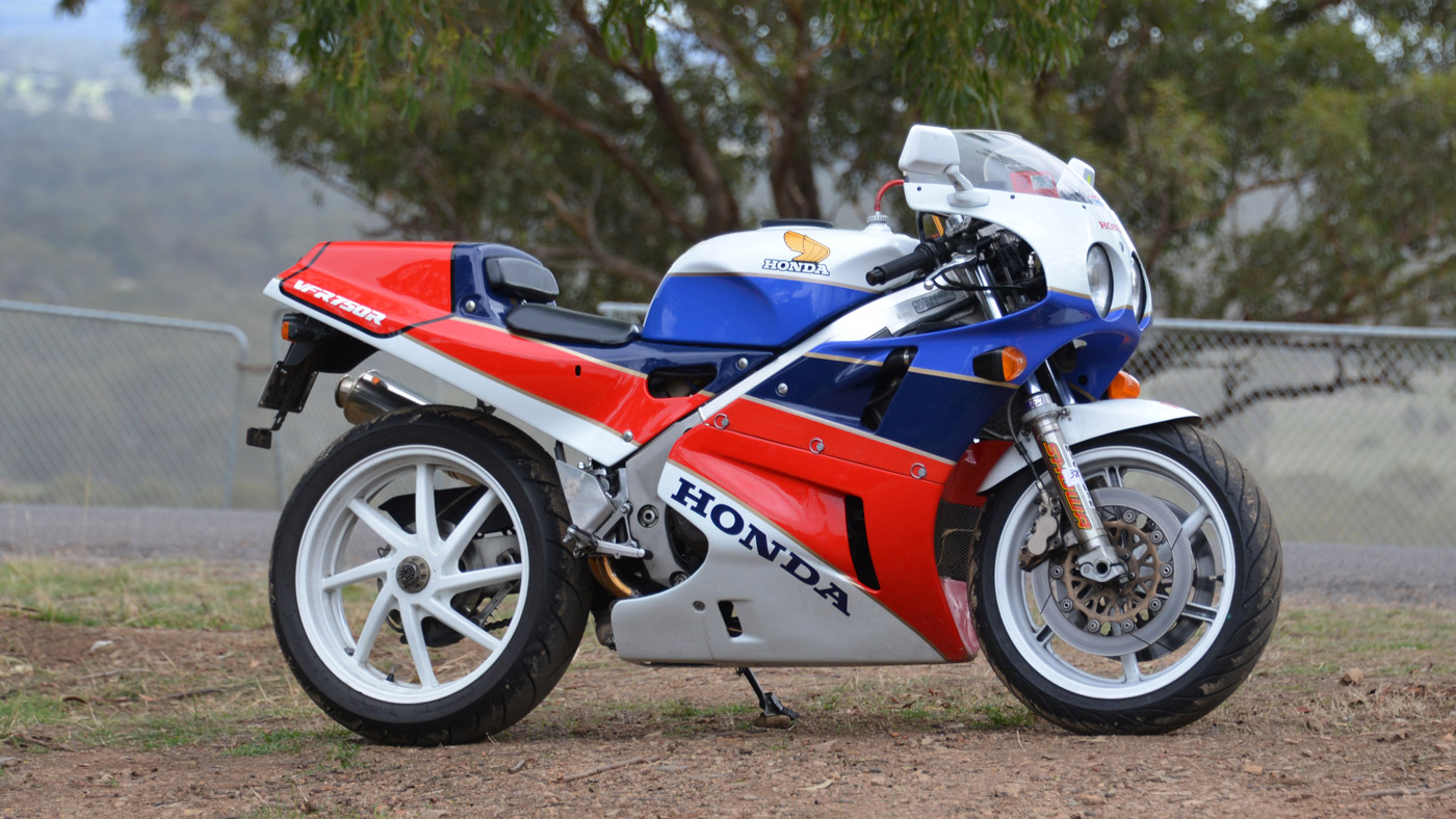 The Honda RC30 motorcycle.