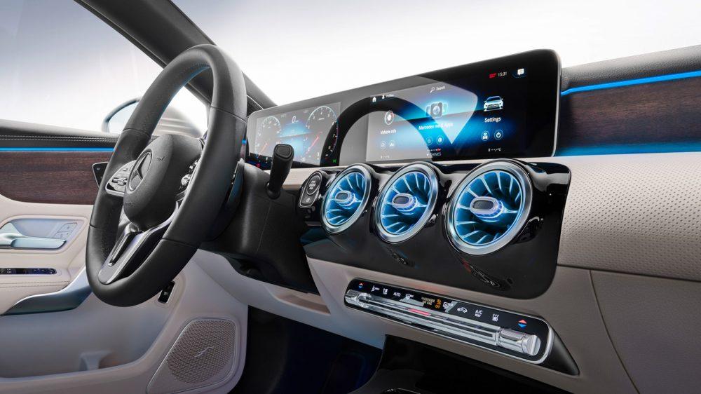The Mercedes-Benz A-Class Sedan.