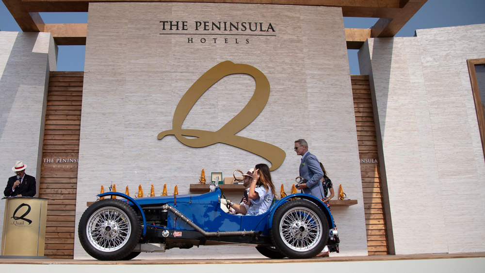 The 1929 Riley Brooklands Special that won its class at the Quail, a Motorsports Gathering in 2018.