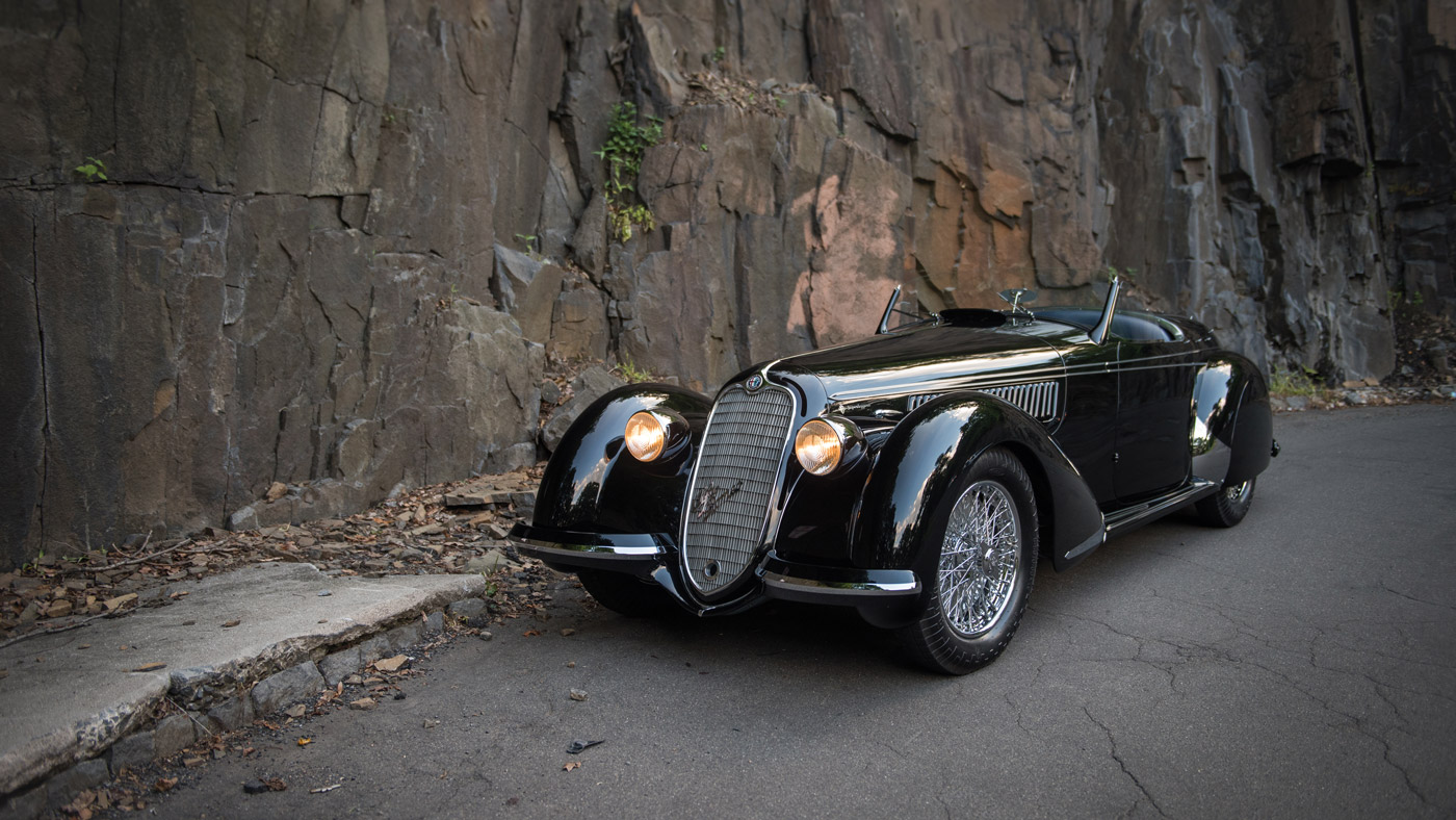 A 1939 Alfa Romeo 8C 2900B Lungo Spider by Touring.