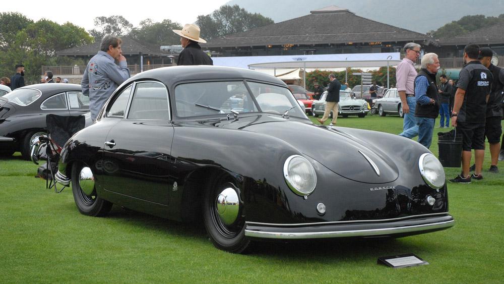 A 1951 Porsche 356 Pre-A Split-Window.