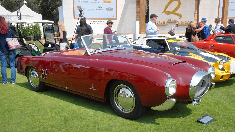 A 1953 Lancia Aurelia PF200C Spider.