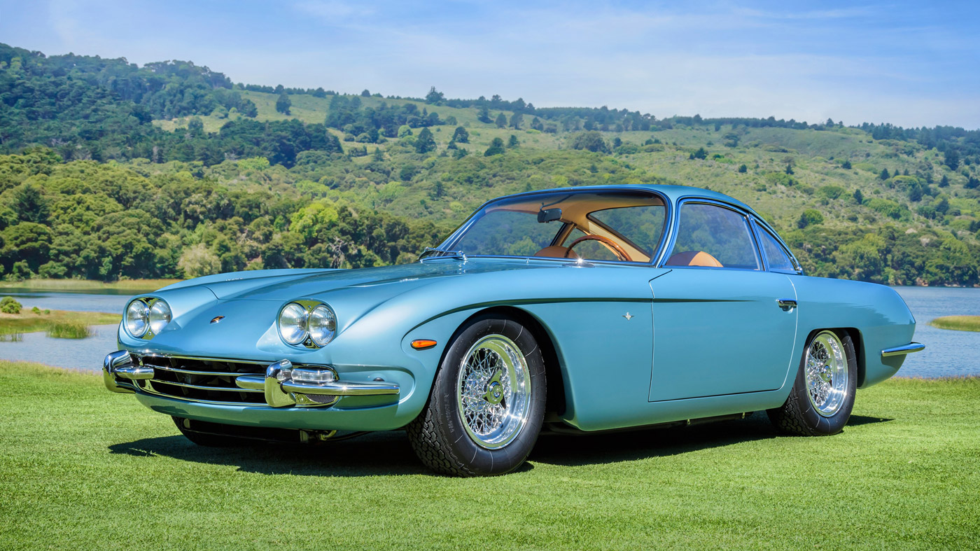 The 1966 Lamborghini 400 GT named Best of Show at the 2018 Hillsborough Concours d'Elegance.