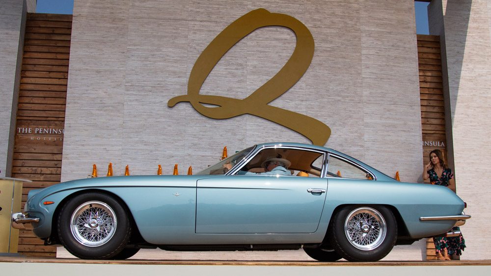 The 1966 Lamborghini 400 GT that won its class at the Quail, a Motorsports Gathering in 2018.