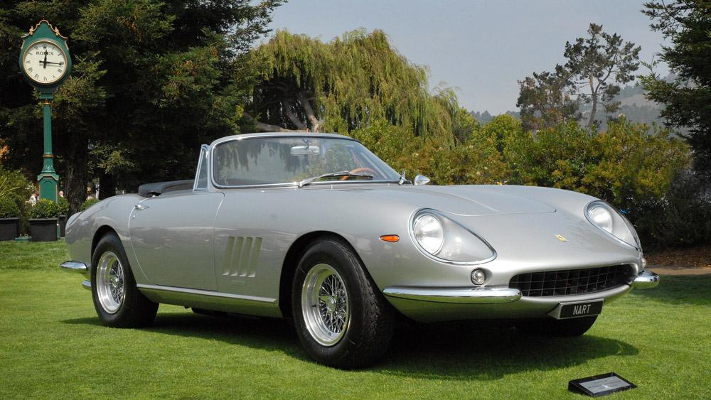 A 1967 Ferrari 275 GTB/4 NART Spyder.