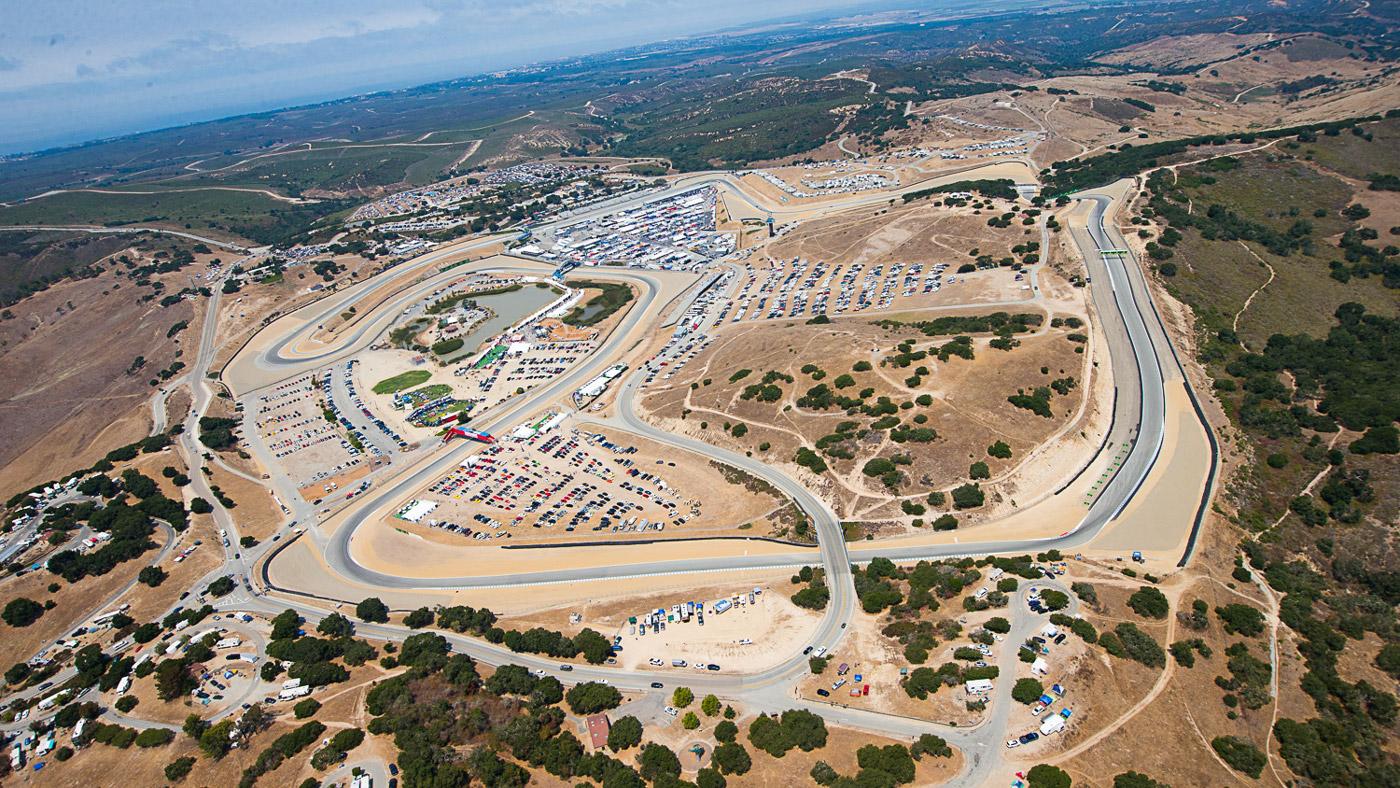 The 2.238-mile, 11-turn track at WeatherTech Raceway Laguna Seca.