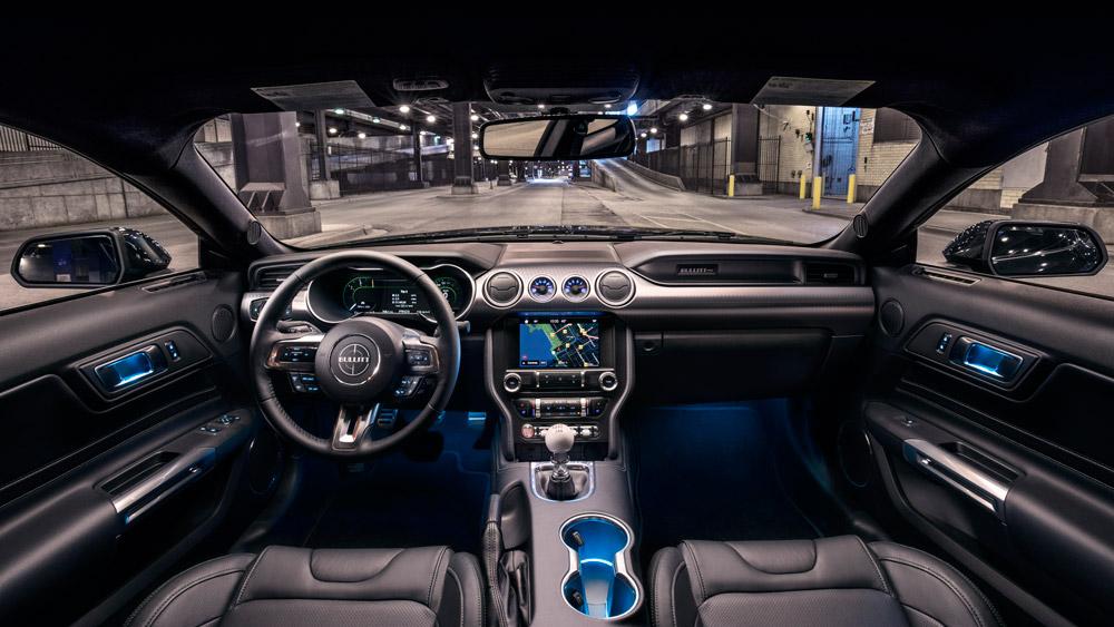 Inside the 2019 Ford Mustang Bullitt.