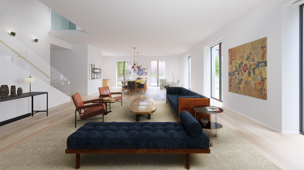 Terraced Townhome Living Room