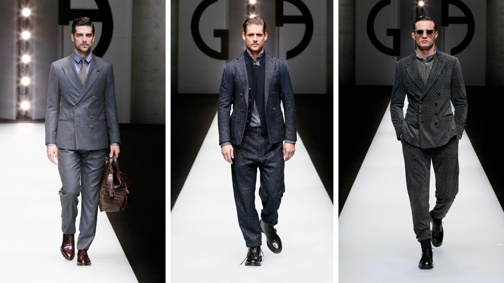 Giorgio Armani fall suits