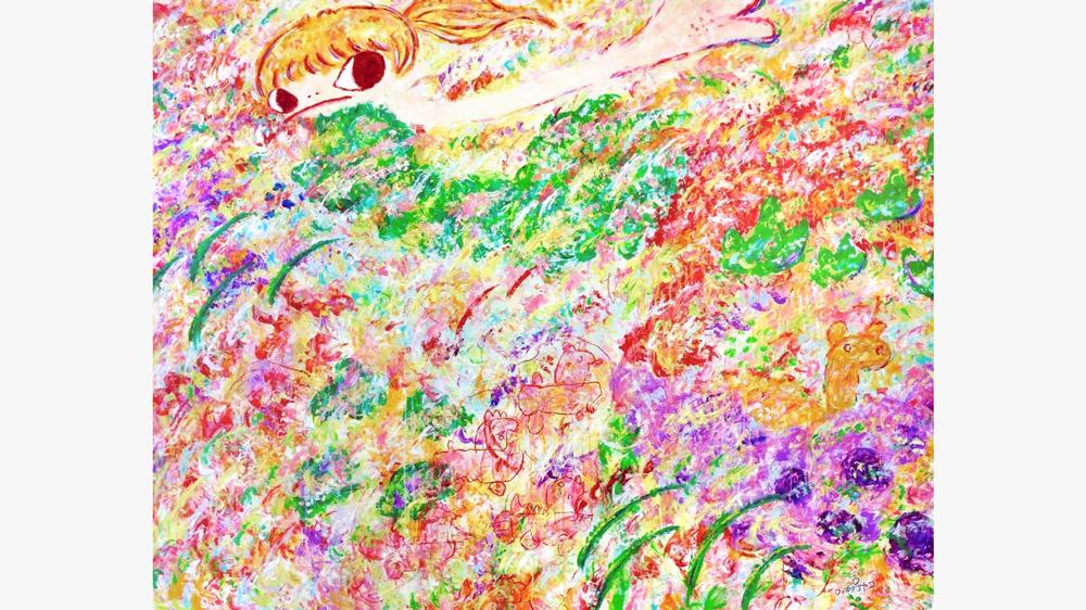 Ayako Rokkaku acrylic on canvas