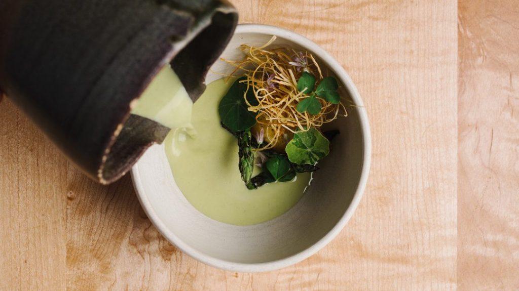 asparagus egg yolk bastion