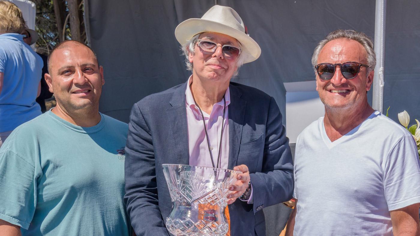 Carlos Alcantara, Robert Ross and Joseph DeMeo at the 2018 Hillsborough Concours d'Elegance.