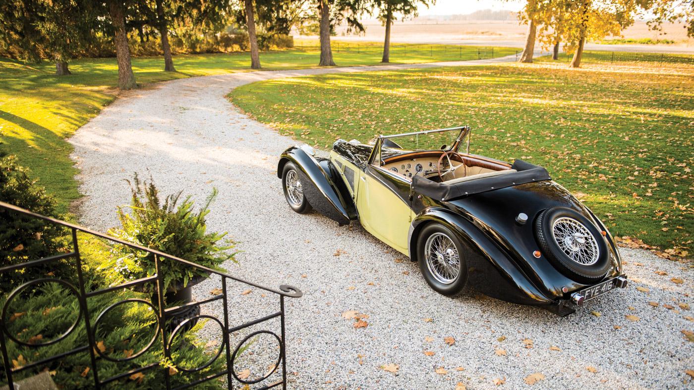 A 1937 Bugatti Type 57S Cabriolet by Vanvooren.