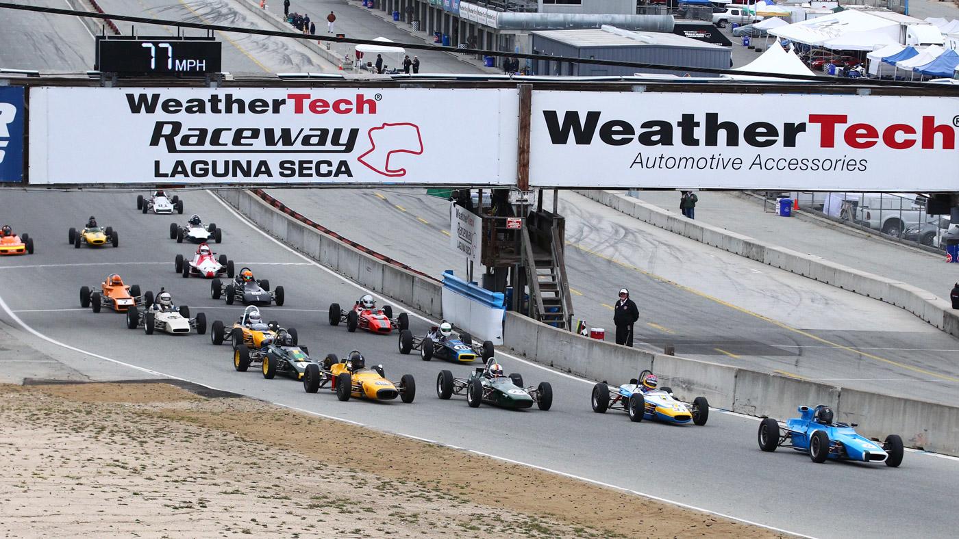 Group B competitors starting out at WeatherTech Raceway Laguna Seca.