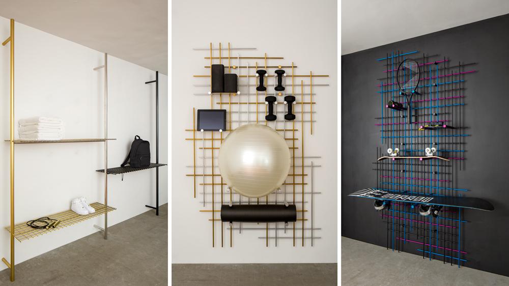 Luxury gym shelves